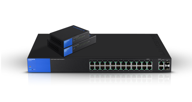 Linksys Switches Ethernet Administrables Gigabit PoE LGS Series